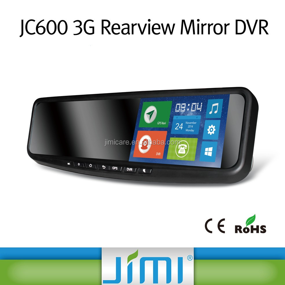 "5"" HD Car 3G Mirror DVR, rearview mirror car android 3g mobile dvr with Wi-Fi Bluetooth"