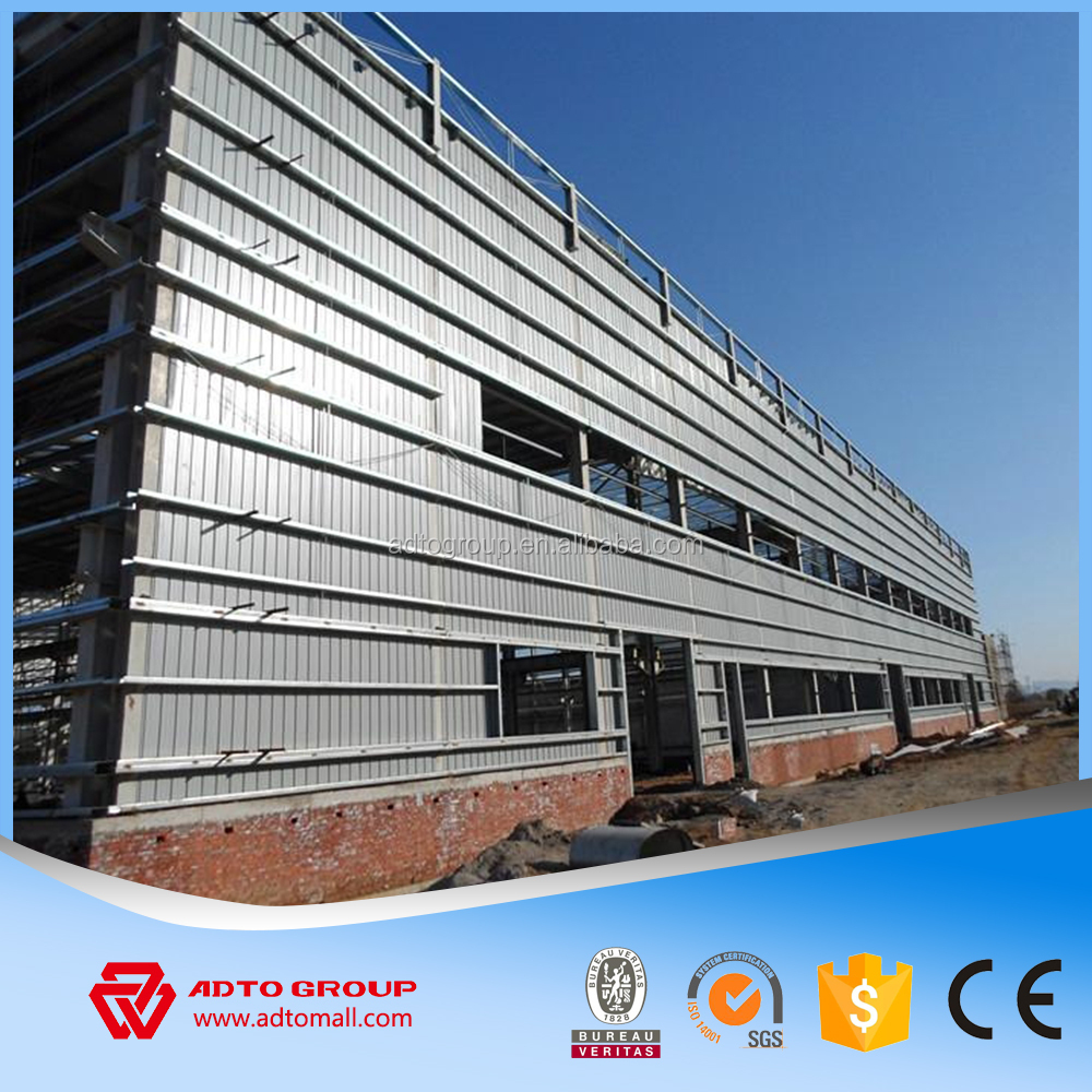 Lightweight Portal Steel Frame Structure Industrial Warehouse Shed Workshop Metal Building Materials Professional For Sale