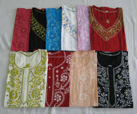 Lucknow Chikan Embroidered Kurti - Tops and Tunics Lot Alibaba