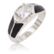 Hot Selling Stone 10mm 925 Sterling Silver Ring for wholesale