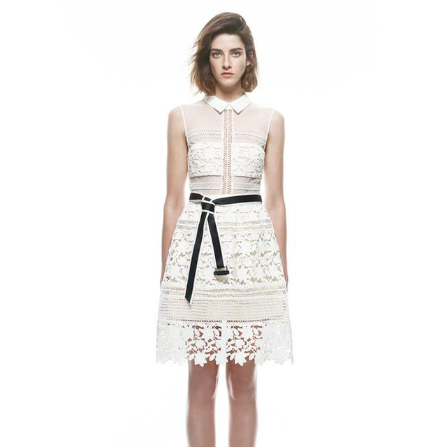 3/4 sleeve Summer women crochet dress,Custom fashion summer rayon lace trimming dress casual new design OEM plus size lady S-4XL