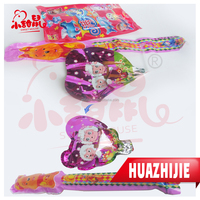 HALAL funny cartoon design air balloon toy with soft jelly candy