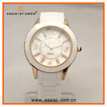 Assisi hot new product for 2015 watch women white ceramic watch band