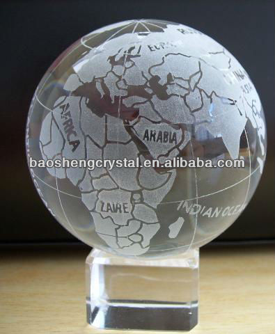 high-quality Crystal Globe with cube base for sale