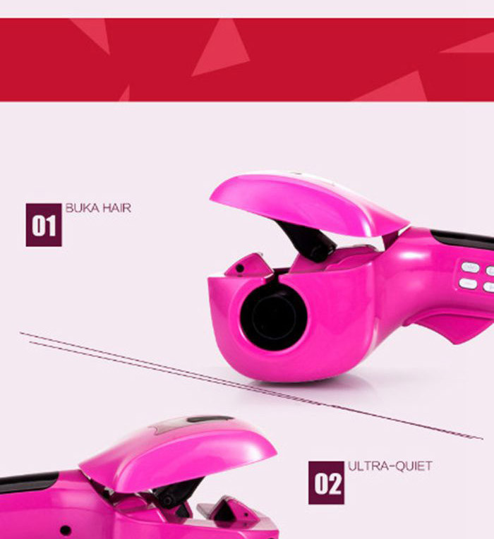 Professional ceramic curling iron wand rotating styling steamer magic hair curler electric balance curler hair