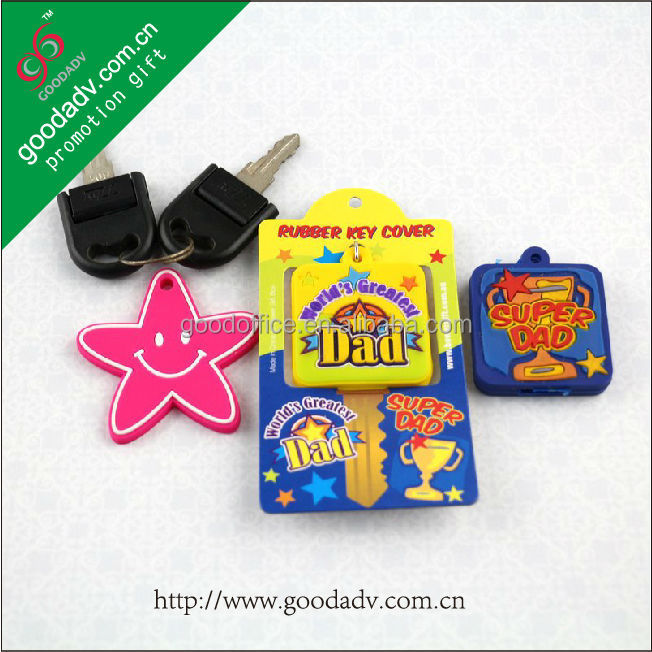 Custom promotional gift personalized soft pvc plastic key cover