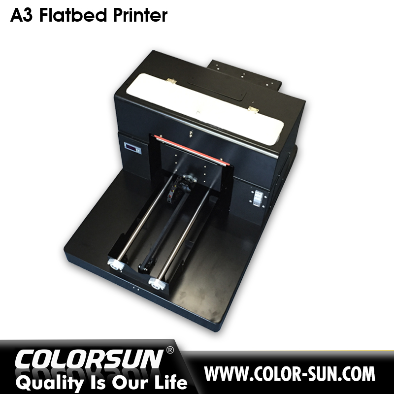 A3 Size Full Smart Flatbed Printer 6 Color T-Shirt and Garment Printer New Solution of White Ink Discolor InkFactor