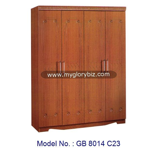 Modern Simple Wardrobe 4 Doors Closet Furniture, malaysia bedroom furniture, mdf simple wardrobe designs cabinet for clothes
