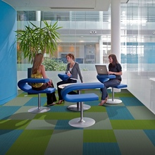 50*50 Green blue color decoration for flooring commercial office carpet
