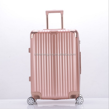 2017 New Arrival Travel Cabin Size Carry Unisex Trolley 3 pcs Luggage Travel Set Bag Aluminium Frame ABS+PC Wheeled Suitcase