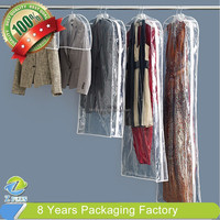 PVC strong clear plastic packaging bags for garment