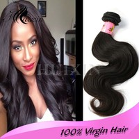 Free shipping 16inch Malaysian body wave wholesale hair extensions los angeles