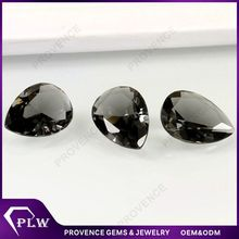 Wholesale Price Pear Black Diamond Synthetic Glass Gems for Vase Filler