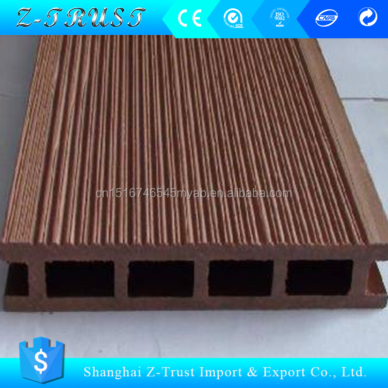 Cheap price outdoor wpc decking anti-uv wooden wpc flooring