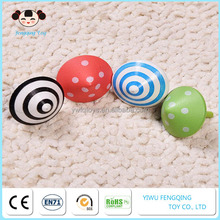 Wholesale handcraft wooden mini gyro spinning top toys