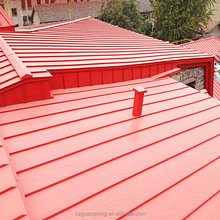 red colored aluminum standing seam metal roofs