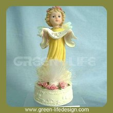 Resin Angel decoration with Fiber Optic Light