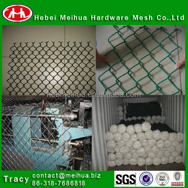 galvanzied and PVC galvanzied chain link fencing (golde supplier)