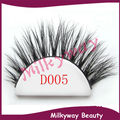 Milkyway D005 3D mink lashes 100% real siberian mink fur tip fluffy false eyelashes thick crossing strip lashes