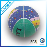Rubber basketball /promotion kids toy/ soft rubber toys for kids