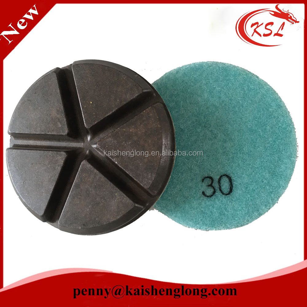 diamond ceramic bond velcro concrete floor dry polishing pad
