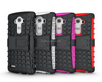 2in1 Hot Sell Heavy Duty Hard Shockproof Stand Case for LG G4