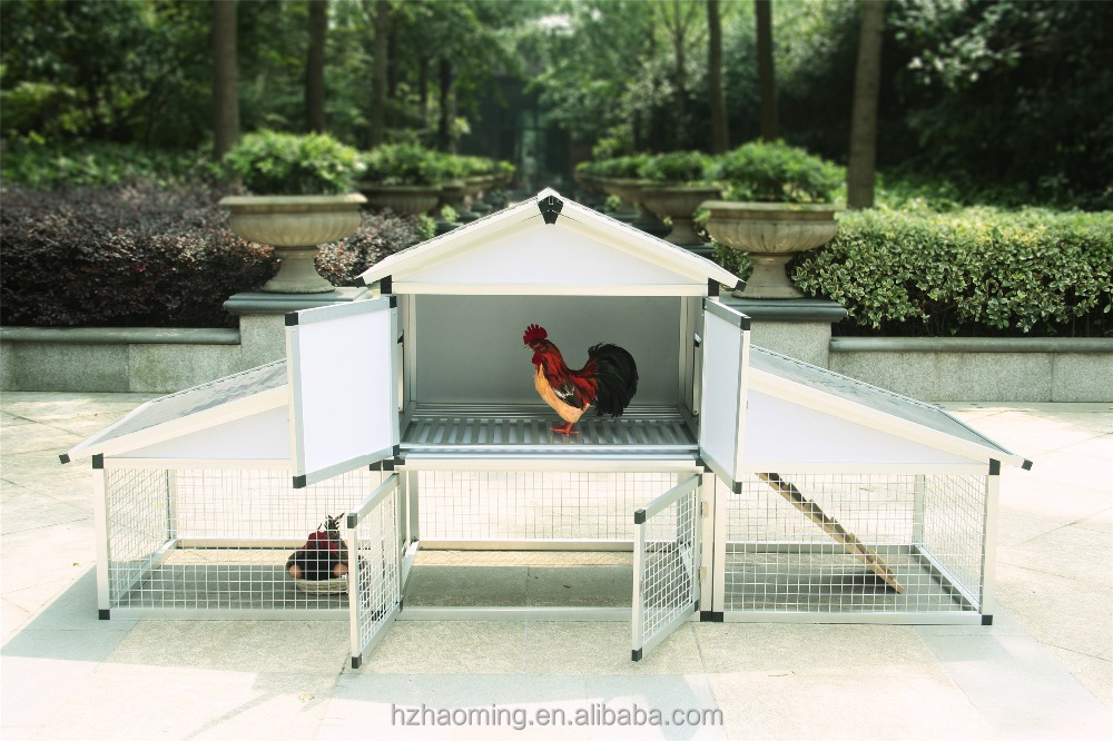 Aluminum and waterproof chicken house