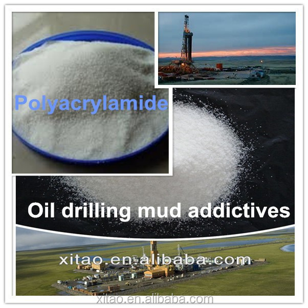 Oil drilling chemicals Anionic polyacrylamide drilling mud addictives PHPA