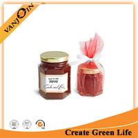 Cheap Price Sealed hexagonal jam glass jar/ glass storage jar for hoeny /jam food storage jar china manufacturer
