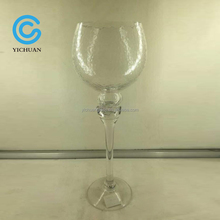 Big wine glass shaped glass candle holder