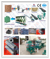 Screw type wood sawdust/rice husk/coco shell briquette machine
