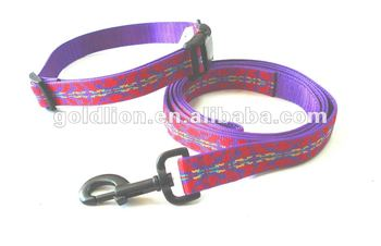 PET Recycled Dog Leash&Collar lead dog adjustable strap
