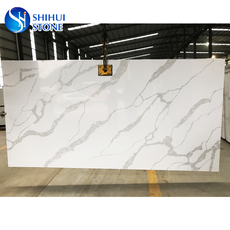 Statuary Marble Looking White Veined Quartz Stone