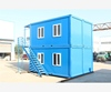 20ft size self contained shower cubicles, modern modular flat pack container cabin