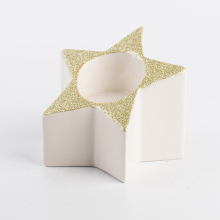 Newest design ceramic candle holder star for tealight