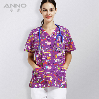 ANNO Cartoon Design Hosoital Medical Scrub Uniform