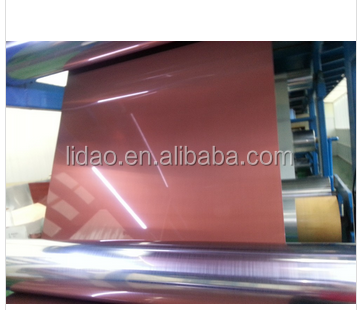 2015 Hot Selling Glossy Red Copper Coated Aluminum Coil For Sale