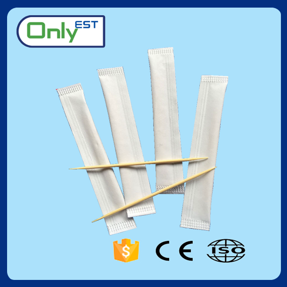 Customize packed double pointed Top grade best sell bamboo toothpick