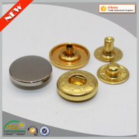Hot sale all kinds of metal colour regular size buttons fashion prong snap fastener snap button machine