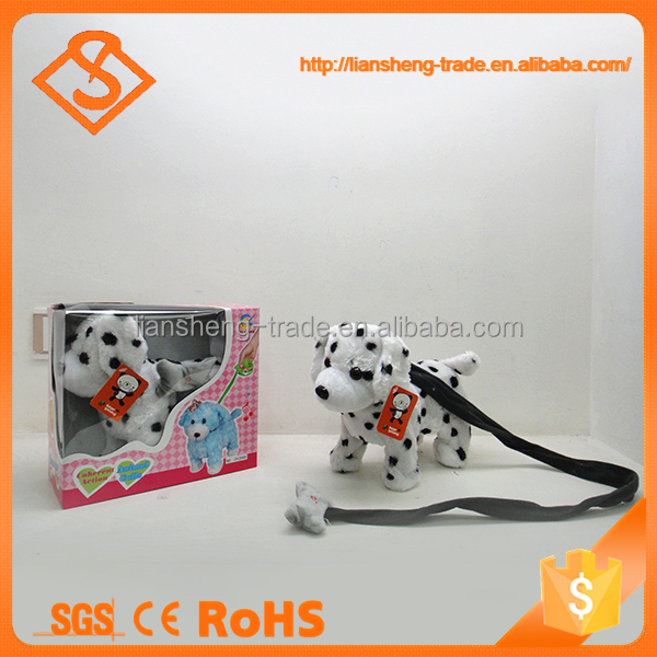 Battery operated cute design kids gift singing dog musical plush toy