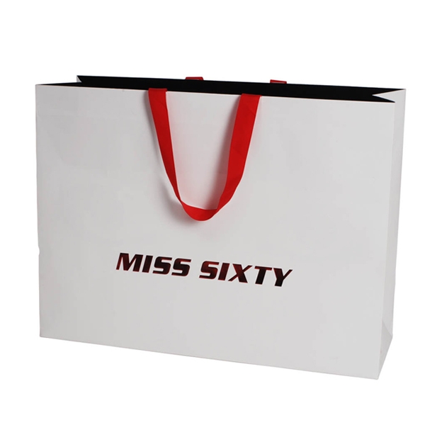 New Wholesale Recycled Fancy Custom Paper Shopping Bag With Logo Print