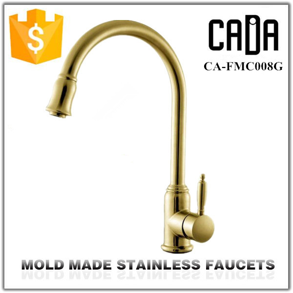 Bottom price new products ceramic cartridge luxury solid gold faucet