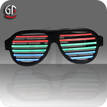 Christmas Novelty Product Special Custom Voice Control Flashing Light Sunglasses