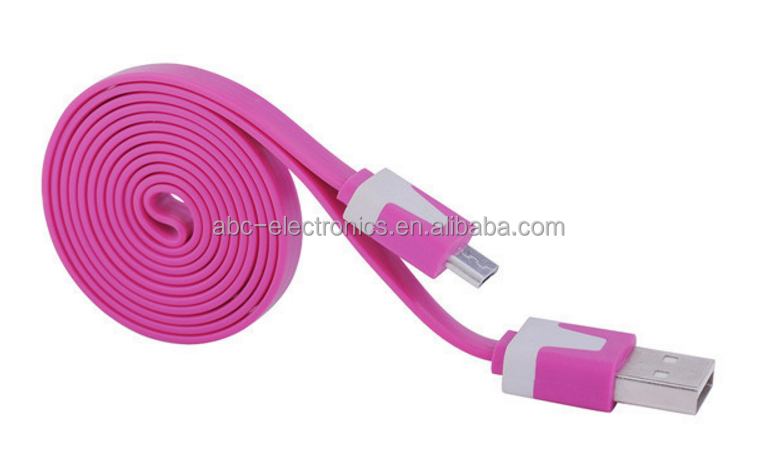 very low price 10 colors 24awg 2c usb cable for iphone/ ipad andriod