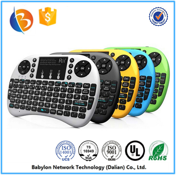 Professional Build-in removable rechargeable Li-ion battery i8 Keyboard mini wireless keyboard