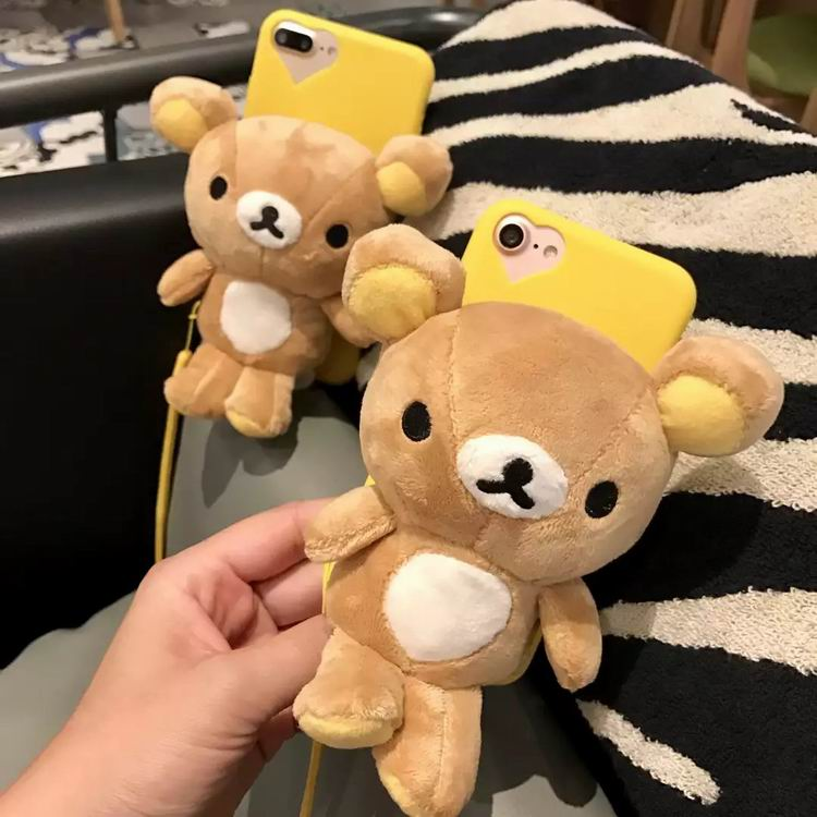 3D Rilakkuma Phone Cover For Apple iPhone 7 with Hang rope
