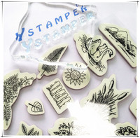 Gift card making cling rubber stamp custom design stamp