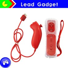 Many color for option Motion plus Remote and nunchuck controller For Wii/Wii U Nunchuck controller