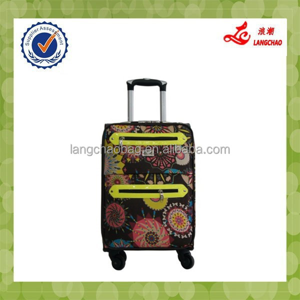 Four Wheels Popular Materials And Models Children Travel Trolley Bag