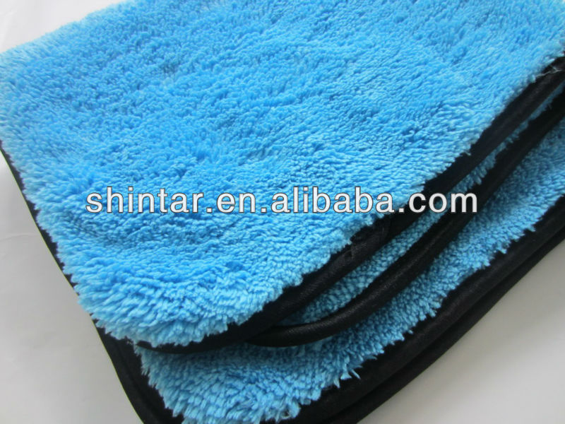 Car care thickest and high absorbent plush microfiber cleaning cloth